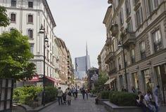 Corso Garibaldi em Milão fotografia de stock royalty free