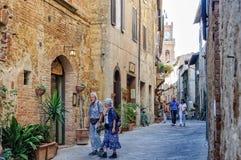 Corso il Rosselino - Pienza Royalty Free Stock Photo