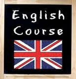 Corso inglese sulla lavagna Immagini Stock Libere da Diritti
