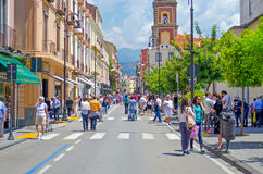 Corso Italia, the main street in Sorrento, Italy Royalty Free Stock Photo