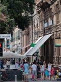 Corso Mazzini op Savona, Ligurië, Italië Stock Afbeelding
