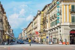 Corso Nizza street. Cuneo, Piedmont, Italy Royalty Free Stock Photography