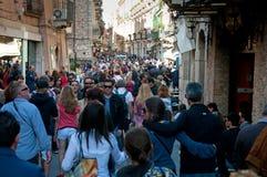 Corso Umberto, Taormina Royalty Free Stock Photography