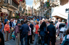 Corso Umberto, Taormina Royalty Free Stock Photos