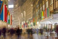 Corso Vittorio Emanuele en Milán Fotografía de archivo