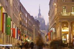 Corso Vittorio Emanuele in Milano Stock Photo
