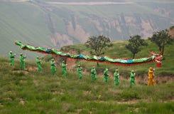 cortège chinois de dragon Photo libre de droits