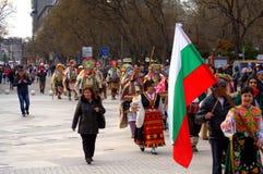 Cortège coloré de rue, carnaval de Varna Image libre de droits