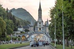 Cortège de bougie de Lourdes Photo libre de droits