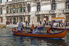 Cortège de carnaval d'ouverture à Venise, Italie 15 Photos stock