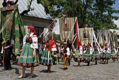 Cortège de Corpus Christi en Pologne Photos libres de droits