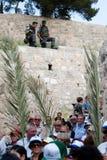 Cortège de dimanche de paume à Jérusalem Images libres de droits