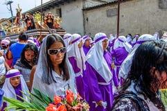 Cortège de dimanche de paume, Antigua, Guatemala Image stock