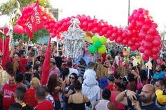 Cortège de fête de rue Parrandas au Cuba Photographie stock libre de droits