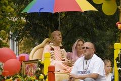 Cortège de Krishna de lièvres Photographie stock libre de droits
