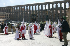 Cortège de Pâques à Segovia Photographie stock