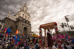 Cortège de Pâques dans Cotacachi Equateur Images libres de droits