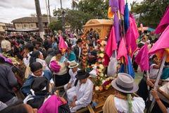 Cortège de Pâques dans Cotacachi Equateur Photographie stock libre de droits