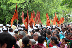 Cortège de palkhi de Sant Tukaram, Maharastra, Inde Photo stock
