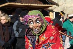 Cortège de rue au carnaval allemand Fastnacht Images libres de droits