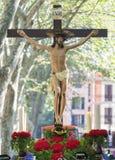 Cortège de semaine sainte dans Palma de Majorque Photo libre de droits