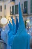 Cortège de semaine sainte dans Palma de Majorque Images libres de droits