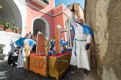 Cortège de Vendredi Saint de PROCIDA PÂQUES Image libre de droits