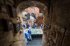 Cortège de Vendredi Saint de PROCIDA PÂQUES Photographie stock libre de droits