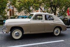 Cortège de voitures de célébration de Sotchi Victory Day Cars Images stock