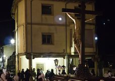 Cortège du Christ la nuit Photographie stock libre de droits