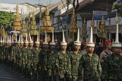Cortège religieux en Thaïlande Photos stock