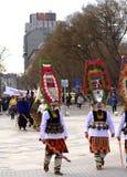 Cortège spectaculaire de carnaval Photographie stock libre de droits