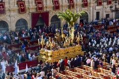 Cortège traditionnel de Pâques en Andalousie images stock