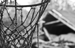 Cort abandonado do basquetebol Imagem de Stock Royalty Free