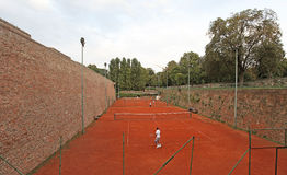Cort do tênis dentro da fortaleza de Kalemegdan, Belgrado, Sérvia Fotografia de Stock Royalty Free