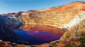 Corta阿塔拉亚露天矿,韦尔瓦省,安大路西亚,西班牙 库存照片