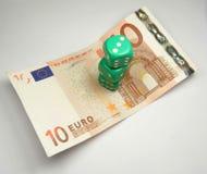 Corta en cuadritos en euro Foto de archivo