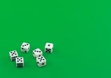 Corta en cuadritos en verde. Foto de archivo libre de regalías