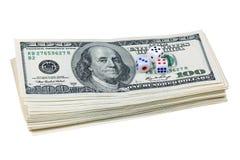 Corta en cuadritos y los dólares Fotografía de archivo libre de regalías