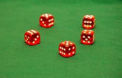 Corta no pano verde Fotos de Stock