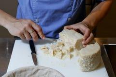 Corta o queijo Foto de Stock Royalty Free