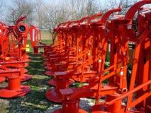 Cortacéspedes rotatorios rojos Fotos de archivo libres de regalías