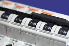 Cortacircuítos de la electricidad Imagenes de archivo