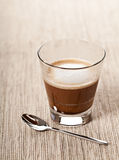 Cortado coffee drink in glass Stock Images