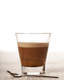 Cortado coffee drink in glass Stock Photo