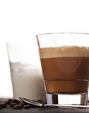 Cortado coffee drink in glass Royalty Free Stock Photo