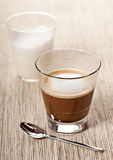 Cortado coffee drink in glass Royalty Free Stock Photography