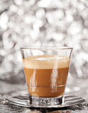 Cortado coffee drink in glass Royalty Free Stock Image