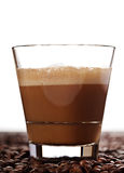 Cortado coffee drink in glass Stock Photography