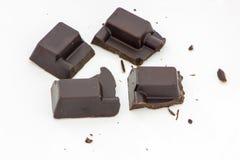 Cortado do chocolate preto Fotos de Stock Royalty Free